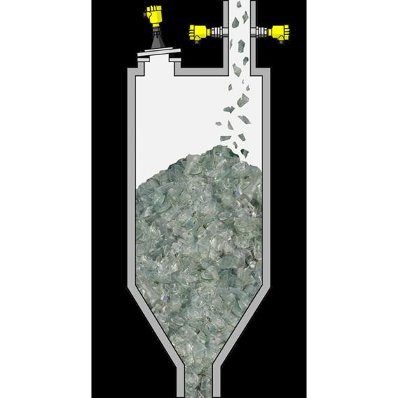 Silos de vidrio triturado